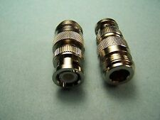 2 COAX ADAPTERS TYPE N FEMALE TO BNC MALE RF CONNECTOR NEW