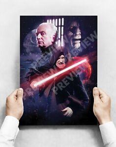 Emperor Palpatine - A3 Poster Print  - Star Wars Darth Sidious
