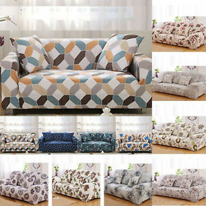 1/2/3/4 Seater Elastic Floral Sofa Cover Soft Slipcover Stretch Couch Protector
