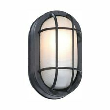 Exterior Led Wall Light Black Finish Hampton Bay 1000 640 809