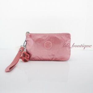 NWT Kipling AC8276 Creativity XL Extra Large Pouch Flourishing Pink Metallic $44