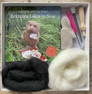 Celestine and the Hare Gift Set - 'Bertram Likes to Sew' Story Book and Polar Be