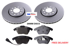 Skoda Roomster 1.6 Front Rear Brake Pads Discs Kit 288mm 232mm 104 06-1LN 1ZC