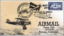18-127, 2018, Airmail 100 years, Pacoima CA, Pictorial, Event Cover,