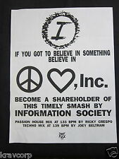 INFORMATION SOCIETY—1992 PRESS RELEASE