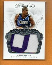 CHRIS WEBBER 2017-18 PANINI FLAWLESS PATCHES GU PATCH /25
