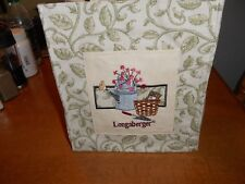 Longaberger Purse/Tote Green Vines with Garden Tools