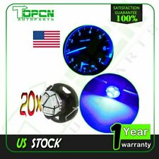 20Pcs Blue T5/T4.7 Neo Wedge 3SMD LED Bulb Dash A/C Climate Control Heater Light