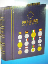 LEUCHTTURM CARTELLA ALBUM X 12 SET COMPLETI MONETE PRE-EURO PRIMI 12 STATI EURO