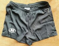 Rugby Union Shorts Plain Black Size 2XL