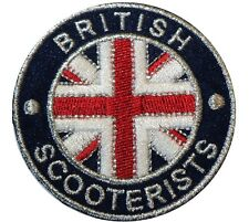 British Scooterist GB Union Flag Britain Iron/ Sew On Embroidered MODS Patch