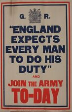 Framed Print – WW1 British Army Enlistment Poster (Reproduction Military Picture