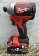 Milwaukee 18v brushless impact driver +4ah battery