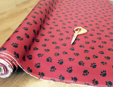 Pet Bed Waterproof Paw Print Fabric Material G Cover Fabric 1m to 50 Mitre Red 6 M 150 Width