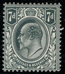 1912 KEVII SG305 7d Deep Slate Grey M38(1) MNH Mint Never Hinged OG CV £120