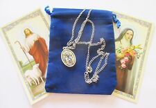 St. Therese, Little Flower, Saint Medal w/ 24 Inch Necklace, New Style