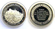 Médaille Le People de Paris Prend la Bastille. L'Histoire de France. Argent. FDC