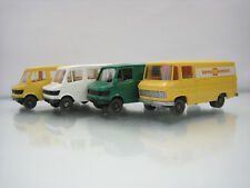 Lot of 4 Wiking Plastic HO Cars 1/87 Mercedes-Benz Bus 280-282/27