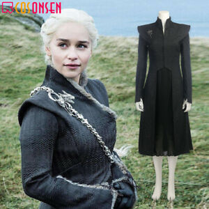 Cosonsen Game of Thrones 7 Daenerys Targaryen Cosplay Costume Halloween lot