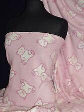 Polar Fleece- Anti Pill Fabric Teddy Bear Baby Pink PPFL45 BPN