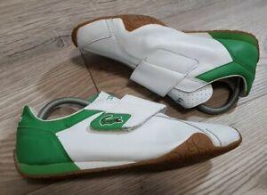 Lacoste Shoes Trainers UK 7 US 8 EU 40.5 White Green Mens Radius 2 Tone 81M