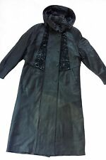 GENUINE LAMB LEATHER TRENCH COAT LINED MADE IN TURKEY, SIZE S, BLACK, MSRP $1200