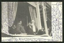 Shah Persia Muzaffar ed-Din visit Oostende Belgium stamp 1900