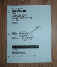 CRAFTSMAN 917.293310 TILLER OWNERS MANUAL WITH ILLUSTRATED PARTS LIST