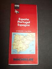 carte michelin N° 990 espagne portugal 1990