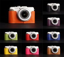 Handmade Real Leather Half Camera Case Camera bag for Panasonic LX7 10 colors