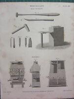 1813 Datato Antico Stampa ~ Miscellany File Taglio ~ Filtri
