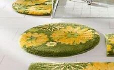 Grund Badematte 75 cm rund  grün gelb Badeteppich NEU