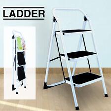 Folding Non-slip 3 Step Ladder Portable Safety Platform Stool Lightweight Home