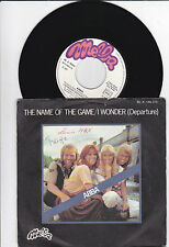 "7"" ABBA - The Name of the Game - I Wonder(Departure) - FRANCE"