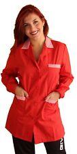 camici da Lavoro Donna,casacca Parrucchiera Estetista Alimentari Maestra