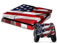 SONY PS4 PlayStation 4 SKIN Design Adesivo Pellicola Protettiva Set - USA Motif
