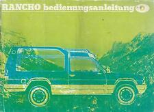 MATRA SIMCA   RANCHO   Betriebsanleitung 1977  Bedienungsanleitung Handbuch   BA