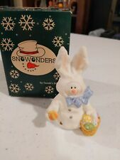 "Sarah's Attic Snowonders ""Hopper"" spring Easter Bunny Figurine April"