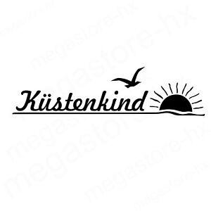 Küstenkind Aufkleber schwarz 25x6 cm Sticker Tattoo Auto Friesland Nordsee Küste