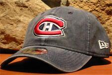 Men's NHL MONTREAL CANADIENS NEW ERA Hockey Hat Ball Cap Adjustable Slouch Blue