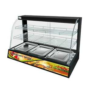 Warmer Display Cabinet Counter Electric Pie Pasty Sausage Rolls Hot Food B New