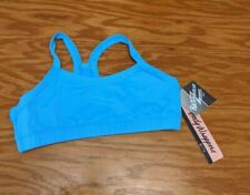 Body Wrappers Turquoise Blue Racer Back Sports Bra Cropped Top Girls 12-14