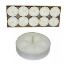SET 10 BOUGIES CHAUFFE PLAT BLANCHES DECO