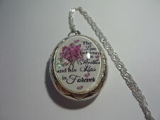 "THE LOVE BETWEEN A BROTHER AND HIS SISTER IS FOREVER LOCKET 26"" CHAIN"