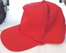 Richardson 7 Red Baseball Caps NEW Embroidered Over Visor & Adjustable Size