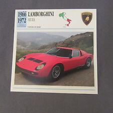 648C Edito Servizio Spina Opuscolo Lamborghini Miura