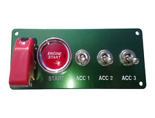 Switch Panel Start Ignition Boat Rally F2 Marine HOT ROD Stock Kit Car A+3 Green