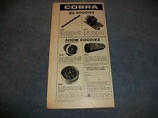"1967 Shelby Cobra Parts Vintage Ad ""Go Goodies, Show Goodies"""