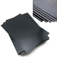ABS Styrene Plastic Flat Sheet Plate Durable Black For Business Industry 9 Size
