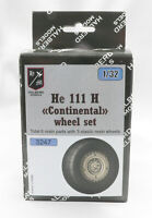 "Halberd Models He 111 H ""Continental"" wheel set 1/32 scale for Revell kit"